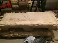 Set of 2 stone steps (4 pieces), like new