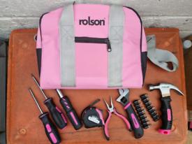 Ladies pink tool kit