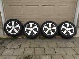 Acura TL Alloy Wheels and Michelin X-Ice3  Winter Tires