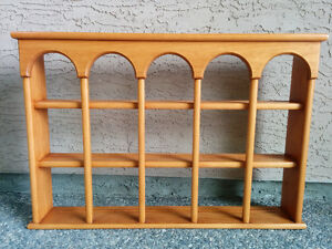 Display wall cabinet, maple