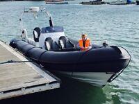Ocean rib boat
