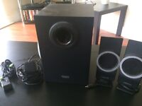 Creative speakers and sub woofer