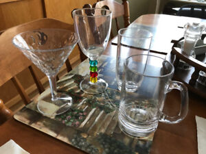 Moving sale - outdoor dishes and glasses