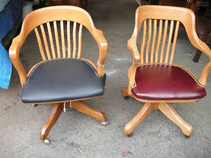 office chairs antique from 1940 to 1950's fully restored Oakville / Halton Region Toronto (GTA) image 5