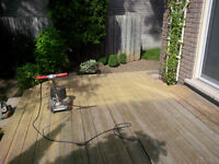 Deck Sanding, re-staining if desired.