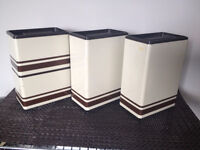 Ensemble de Canistre ** VINTAGE * RETRO ** Kitchen Canisters