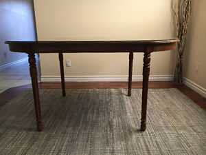 Oval shape wooden dining table with a glass top Windsor Region Ontario image 3