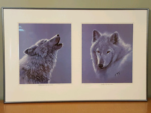 Wolf Prints - signed by artist Samara Carrier