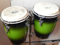 "MP 9"" and 10"" congas on stand"