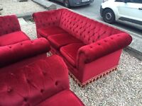 Vintage 3 seater and chair