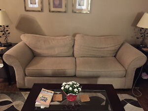 Beige/cream couch and matching chair for sale Windsor Region Ontario image 1