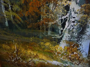 """Forest Sanctuary, Landscape by Paul Cho """"Woodland Stream"""" 1970's Stratford Kitchener Area image 10"""