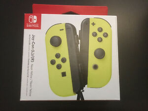 Nintendo Switch Joy Con left and right set, new, yellow and grey