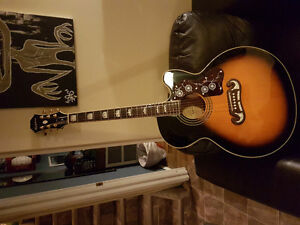 moving must sell...epiphone big body electric acoustic