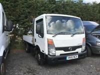 NISSAN CABSTAR 35.13 MWB SHR, White, Manual, Diesel, 2010 92000 Dropside