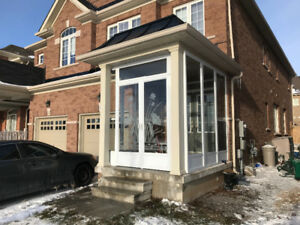 PORCH ENCLOSURE & STORM DOOR installations
