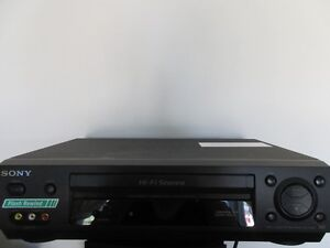 Sony SLV N500 VHS video cassette recorder.