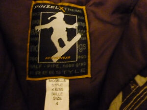 Pinzel Boys' camo snowpants-kids size 4