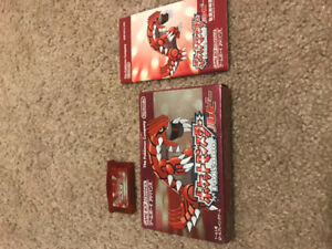 Japanese Pokemon Ruby GBA complete in box
