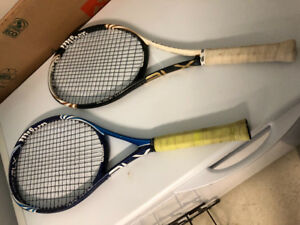 Wilson tennis racket . Blade lite and tidal force