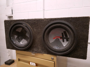"Dual 12"" Alpine Type R Subwoofers"