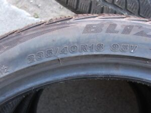 235/40R18 Used car tires