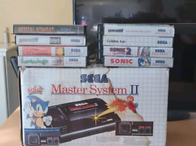Boxed master system with built in Alex the Kidd game