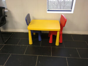 Childrens table and chairs $20.00