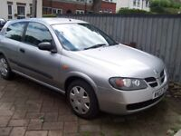 2003 Nissan ALMERA 1,5s, Nice Bright Car, NEW TEST and very CHEAP - only £345 One Owner