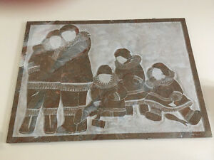 Solid Marble Inuit Family