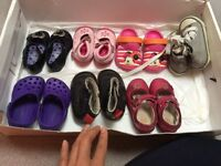Assortment of girls shoes in size 4