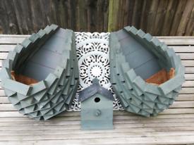 Wood Garden Planters Wheelbarrows and Nesting Boxes