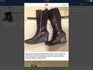 Aqua Diva quality leather boots for sale