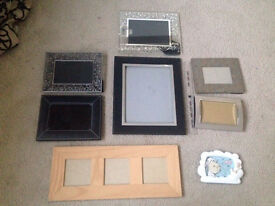 Selection of picture frames in various sizes