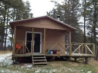 hunting camp  northern quebec