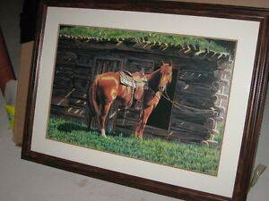 BEAUTIFUL framed picture of horse
