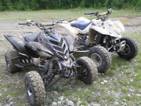 Looking to trade 06 raptor 727 and 07 z400 for 4x4 atv