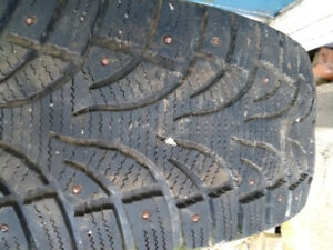 1 winter tire 205/55R16 studded