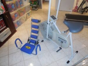 EXCERCISE BIKE AND AB ROCKET