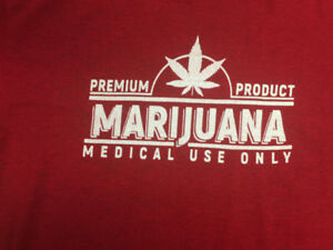 Best Weed T Shirts - Red - 90% Cotton - 2 Designs Available