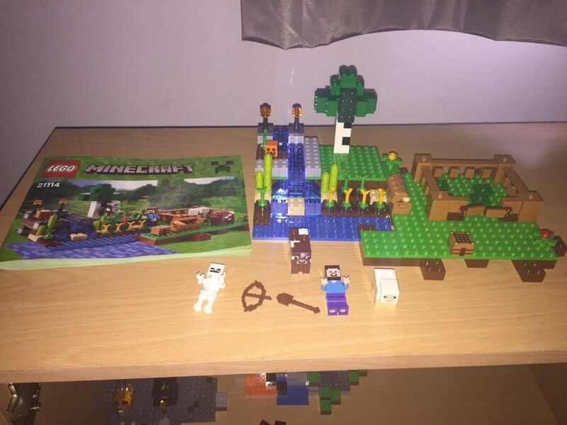 Lego Minecraft The Farm Set Unboxed With Instructions In