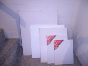 5 stretch canvas new painting matts