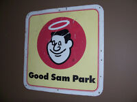 Metal Double Sided Good Sam Park Sign