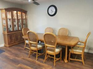 Dining Room Set Buffet Hutch Table With 6 Chairs