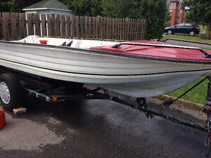 17 Feet Fiber Glass Fishing boat with Trailer for Sale