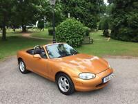 2000 Mazda MX-5 1.8i 2 Door Convertible Gold