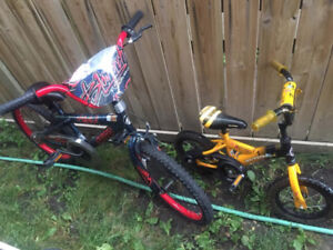 20 and 12 inch bikes