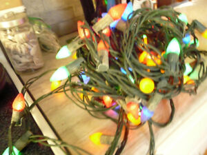 2 sets of LED outdoor multi colour Christmas lights