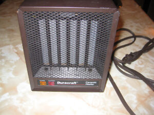 Duracraft CZ-306 Corded Portable Ceramic Space Heater Brown