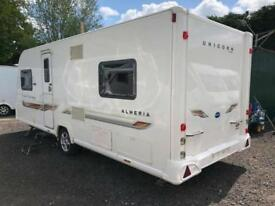 2012 Bailey Unicorn Almeria 4 Berth caravan Fixed Bed MOTOR MOVER Bargain !